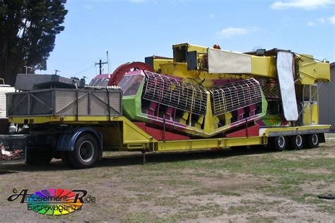 Racked Rides by Kamikaze On Its Single Trailer Amusement Ride Extravaganza