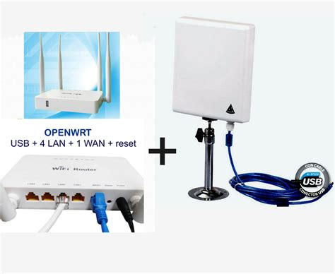 Antena Router kit wi fi repetidor con antena panel 300mbps router open