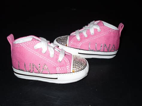Pink Converse Crib Shoes by Babies Converse