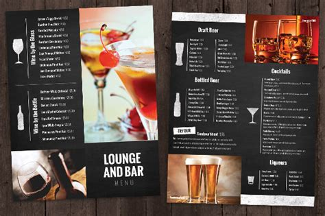 bar drink menu template bar menu templates 35 free psd eps documents