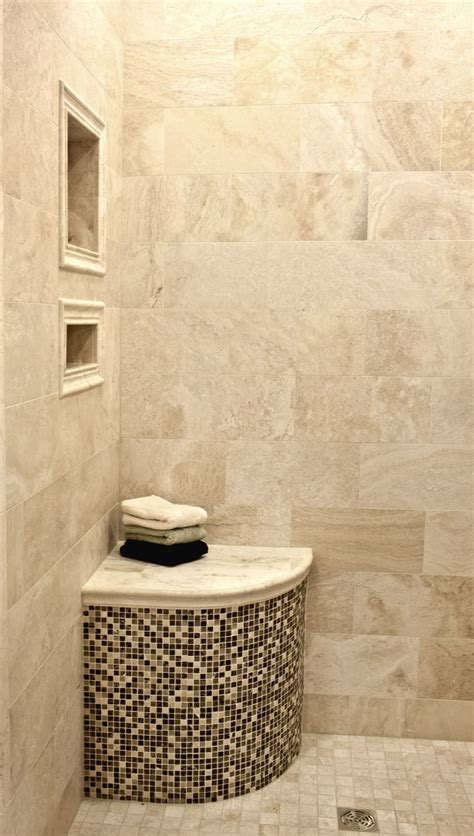 shower with bench ideas how to make corner shelves in tile shower woodworking