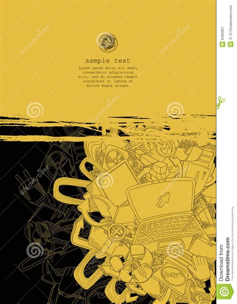 link theme line yellow computer theme line drawing vector royalty free stock