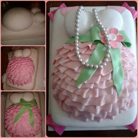 Baby Shower Belly Cakes by Pink And Green Belly Cake Baby Shower Ideas