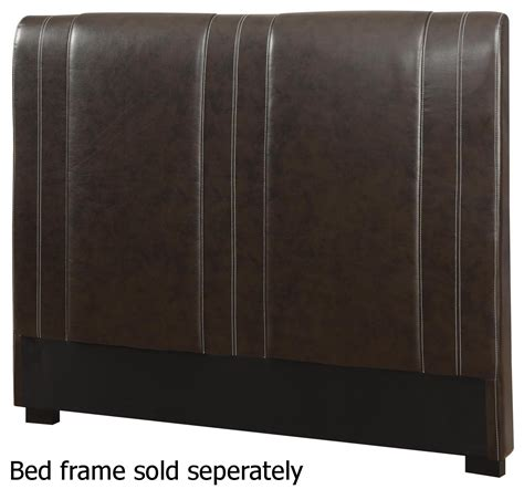 brown leather headboard steal a sofa furniture outlet