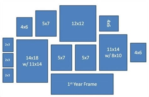 online photo gallery layout picture frame wall collage layout