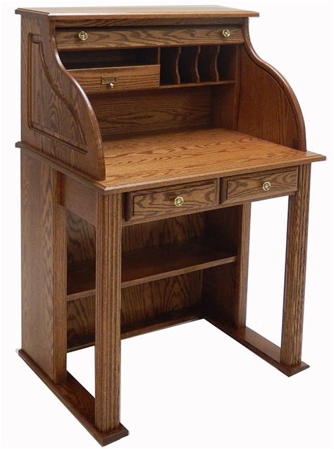 roll top office desk 28 7 8 quot w solid oak roll top vintage scholar s desk