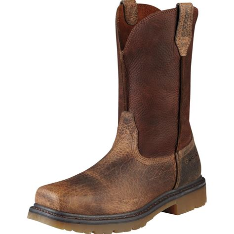 ariat rambler boots ariat rambler steel toe pull on work boot 10008642