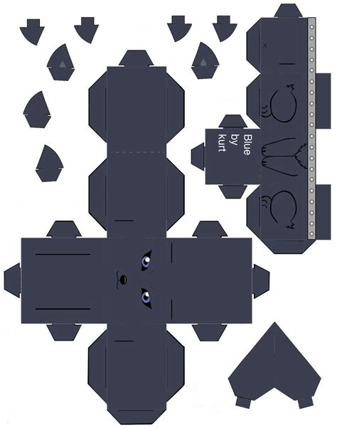 Wolf Papercraft - wolf s blue by scarykurt on deviantart