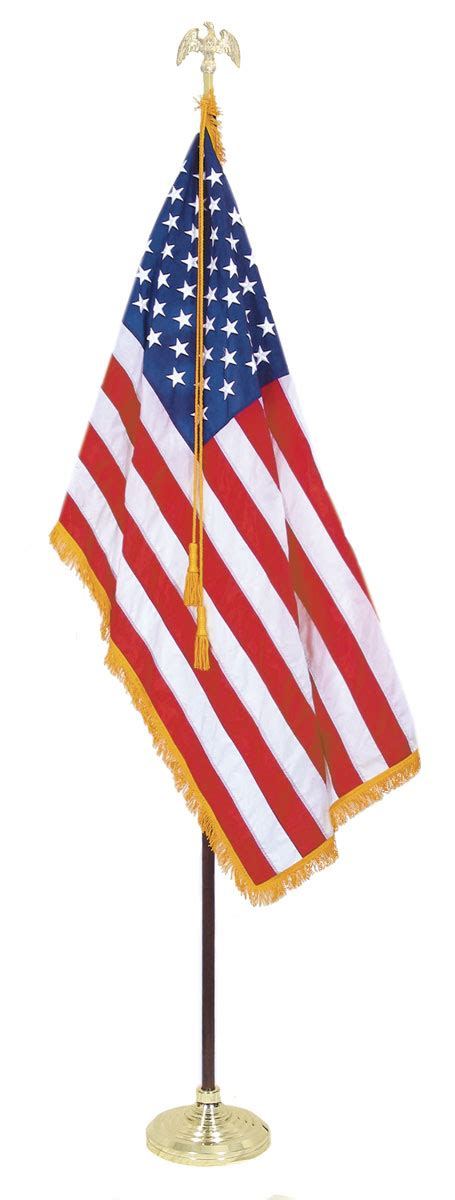 U S Outdoor Flags Sets Indoor American Flag Set With 5 X 8 Ft Us Flag And 12 Ft