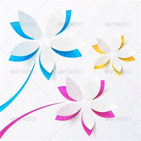 3d paper flower template www imgkid com the image kid