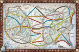 usa map addicting ticket to ride by johnny