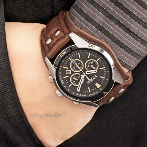 Jam Tangan Pria Fossil Jake Jr 1157 Chronograph Leather fossil ch2891 coachman chronograph leather ของแท