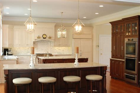 double kitchen island designs double island delight traditional kitchen other by