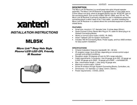 xantech ir receiver wiring diagram efcaviation