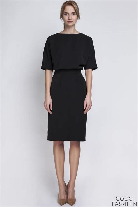 black pencil skirt 1 2 sleeves dress
