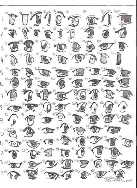 tutorial menggambar oc how to draw manga eyes