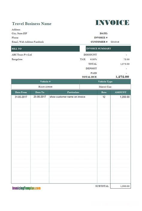 rent invoice template word word rent invoice template