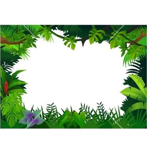 printable jungle paper free printable clip art borders jungle frame vector