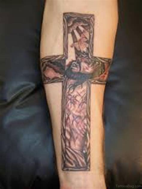 jesus on the cross tattoo designs 70 great cross tattoos for arm