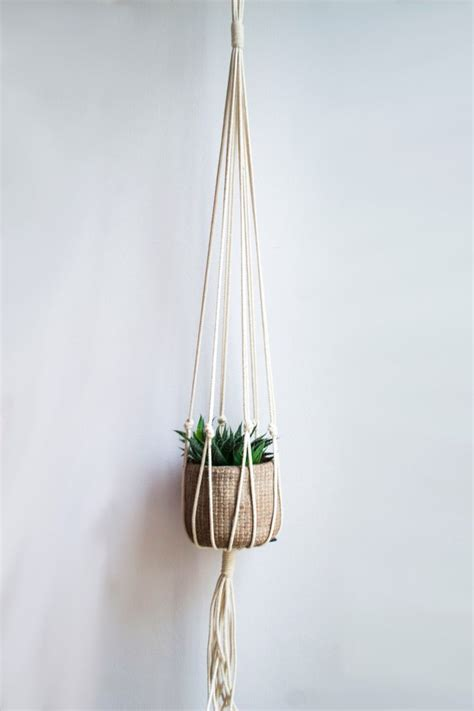 Macrame Cord For Plant Hangers - macrame plant hanger 34 inch 1 8 inch braided cotton