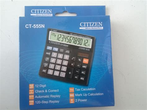 Kalkulator Citizen Ct 555n212 jual kalkulator dagang shop calculator citizen 12 digit ct 555n toko atk semua