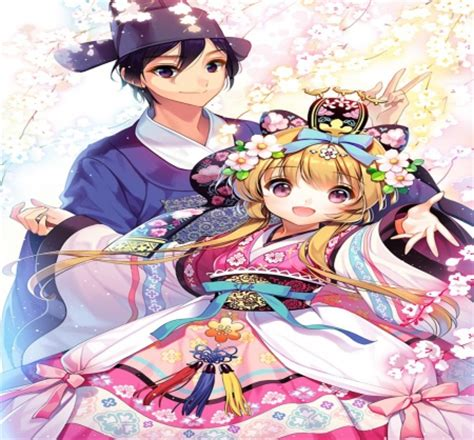 korean couple anime love and romance wallpapers and