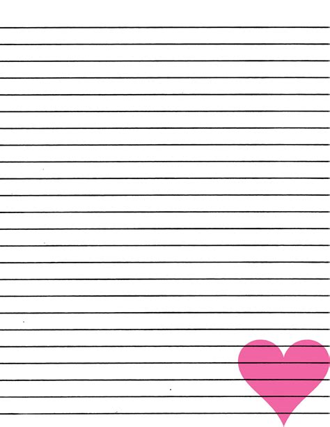 free printable pretty lined paper printable lined paper