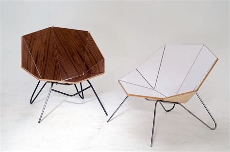 Origami Furniture - cut fold modern origami like furniture design milk
