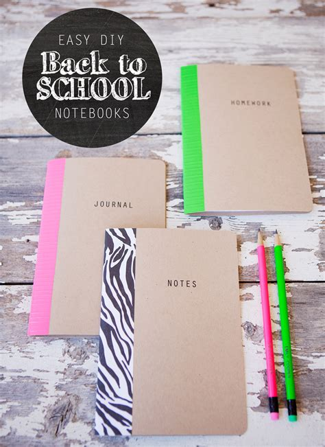 ideas to be realized a notebook books diy school notebooks with trading co