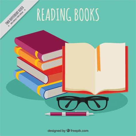 background design reading pile of books and glasses background vector free download