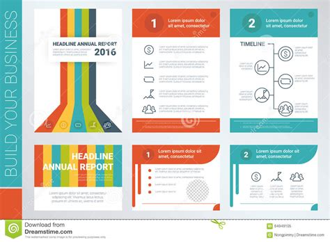 Annual Reports Templates For Companies Annual Report Book Cover And Presentation Template Stock