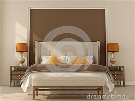 beige and orange bedroom beige bedroom with orange decor royalty free stock photos