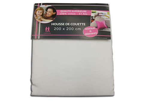 Housse De Couette Unie Pas Cher by Housse De Couette Unie Blanche 200x200 Cm Pour Lit 120 Cm