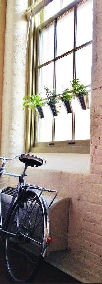 window herb garden ikea hack   tension rod