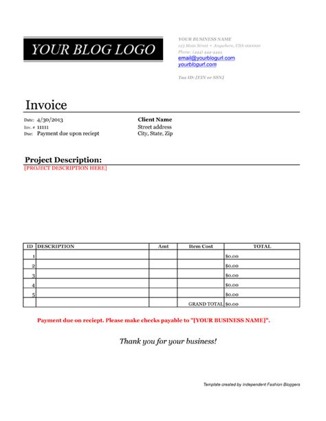 Invoice Template Credit Card Payment Option Payment Invoice Template Invoice Exle