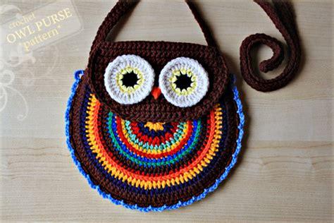 crochet pattern owl purse crochet owl purse pattern no 005 171 zoom yummy crochet