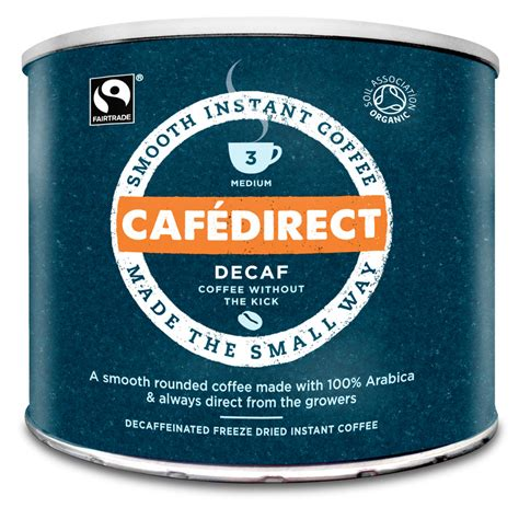 Cafedirect Decaffeinated Instant Coffee   500g