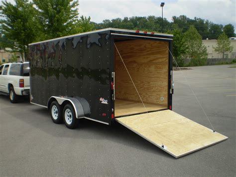black trailer black enclosed trailer 004 magnumclean