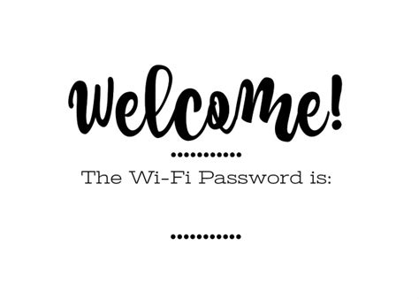 prepping for guests and free printable wi fi password sign