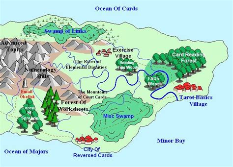 kentucky map linking study tarot studies