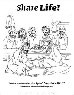 1000 Images About Jesus Disciples Feet Wash On Pinterest Jesus Washes The Disciples Coloring Page