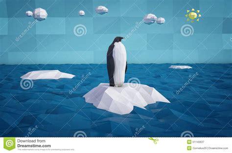 Abstrak Pinguin 1 abstract penguin on an iceberg stock illustration image