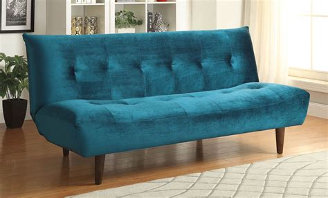 teal sofa bed coaster 500098 sofa bed teal 500098 at homelement com