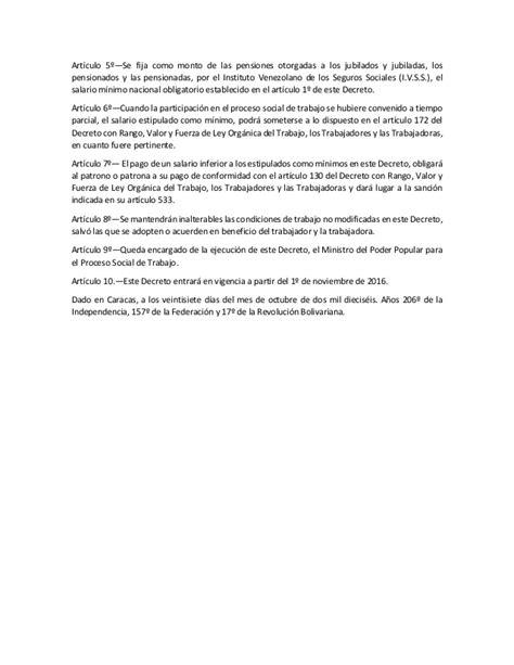 decreto sobre salario minimo 2016 decreto de salario minimo nov 2016 n 250 mero 6 269