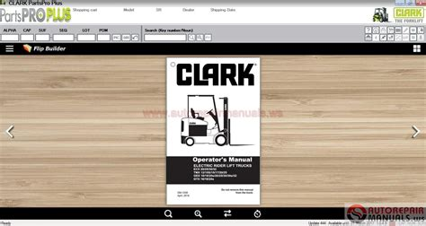 Clark Forklift Parts Pro Plus V444 03 2017 Full