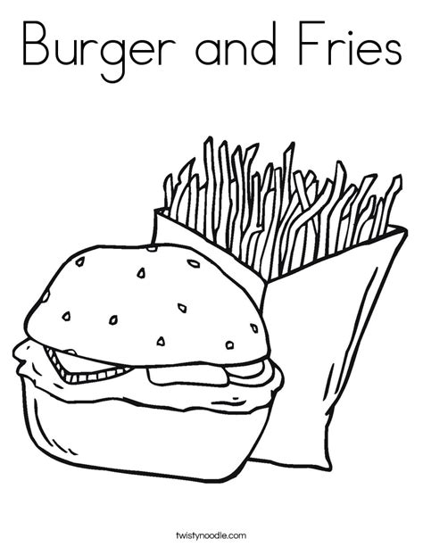 French Fries Coloring Page Coloring Home Fries Coloring Page