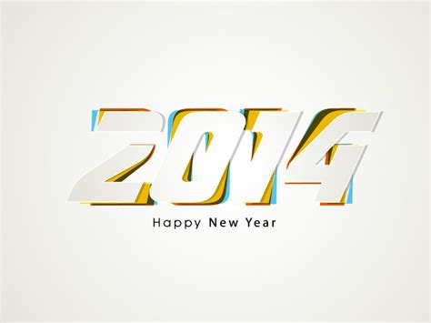 graphic design for new year happy new year 2014 overlapping design vector free