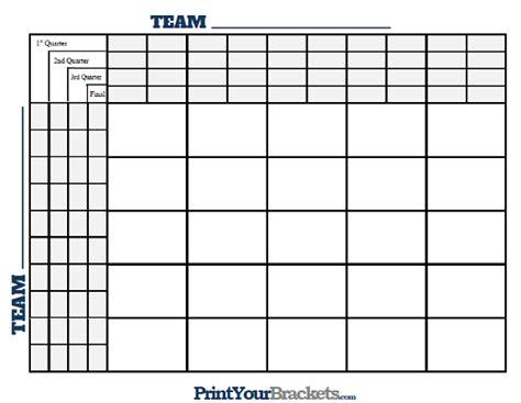 printable football squares grid new calendar template site