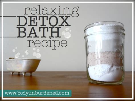 Bentonite Clay Detox Bath Recipe by Relaxing Detox Bath Recipe Himalayan Salt Salts And