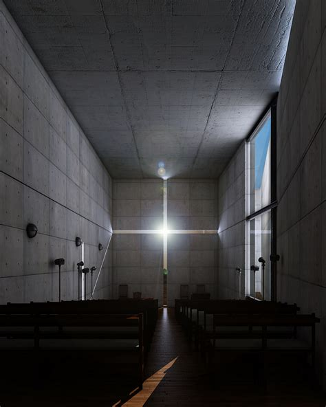 light of church texturing lighting rendering the church of light in